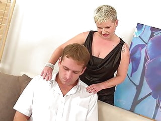 Euro Blonde Mature Fucks Stressed Stepson