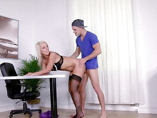 Black Stockings Secretary LUCI ANGEL Hard Fucking