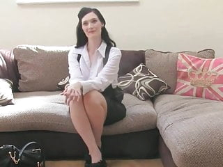 Classy MILF drilled at british sex casting
